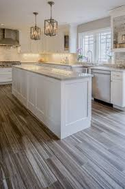 White Grey Kitchen Remodel Shaker Cabinets Countertops With Tile