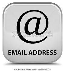 White Address Email Address Special White Square Button Email Address Isolated On
