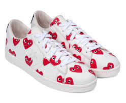 comme des garcons play converse pro leather collection
