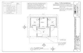 floor plan of small restroom concession building