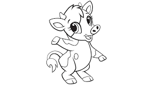 Baby cow coloring printable