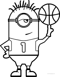 Small Picture Minion Turn Basketball Coloring Page Wecoloringpage