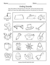 Phonics is like an adventure. Ending Sounds Worksheets And Printables For Preschool And Kindergarten Kids