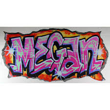 personalised pink graffiti wall stickers by nest