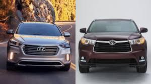 2017 Hyundai Santa fe vs 2016 Toyota Highlander - YouTube