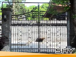 Small Picture Wrought Iron Modern House Iron Garden Gate Design For Metal Gates