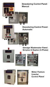 control panels tsurumi pump control panels
