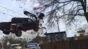 Truck goes airborne in police chase - CNN Video