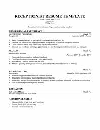 Receptionist Resume Objective No Experience Examples Format Download