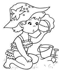 Summer Beach Coloring Pages Summer Coloring Page For Kids Coloring
