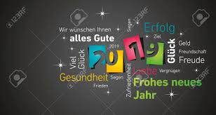 Happy New Year 2019 Negative Space German Cloud Text Colorful ...