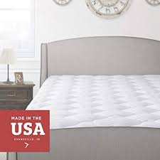thick mattress topper. Thick Pillow Top Mattress Pad - Hypoallergenic Soft Quilted Cooling  Topper Cover With Fitted Skirt Thick Mattress Topper E