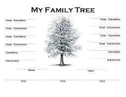 Family Tree Chart Freeware Free Printable Generation Family Tree Chart Kids Coloring