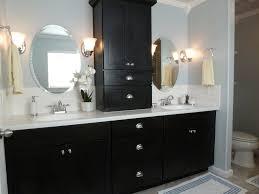 elegant black wooden bathroom cabinet. vogue black wooden vanity bath with storage white glass tile top and double undermount sink elegant bathroom cabinet e