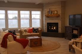 luxury vinyl plank wood flooring living room ceramic tile corner fireplace gallery