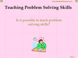 problem solving powerpoint 9 teaching problem solving