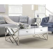 pacific mirrored coffee table