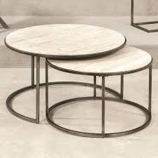 uk furn coffee table nest round nest