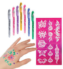 Ink A Doo Glitter Tattoo Pens Set Of Two Hearthsong