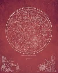 Star Charts For Southern Hemisphere Southern Hemisphere Star Chart Print