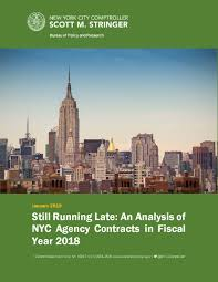 Annual Analysis Of Nyc Agency Contracts Office Of The New