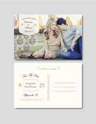 Vintage Save The Date Postcard Template Psd Digital