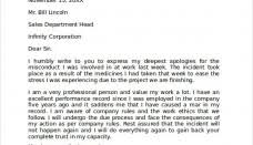 Official Apology Letter To Boss New Best S Of Examples Professional ...