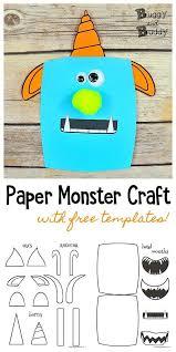 Free Craft Printables Templates Paper Monster Craft For Kids Monster Crafts Easy Arts