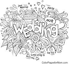 Coloring Pages Wedding Marriage Coloring Pages Wedding Coloring