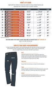 Mens Size Guide Boulder Denim