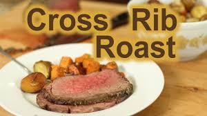 How To Make A Cross Rib Beef Roast Dinner With Roasted Potatoes Rockin Robin Cooks