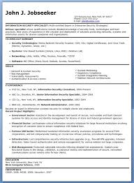 Information Security Resume 6 Specialist Sample