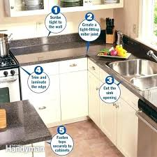 how to install laminate countertops yourself installing laminate yourself