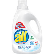 High Efficiency Detergent Brands All Free Clear With Stainlifters 40 Loads Liquid Laundry Detergent