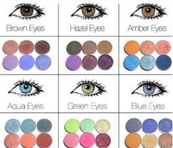 make up eye shadow colors for brown eyes hazel eyes amber eyes aqua eyes green eyes and blue eyes