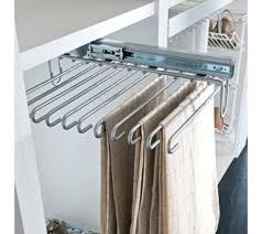 Pull Out Coat Rack Pull Out Clothes Rack Pull Out Trouser Rack Silver Finish Full 46