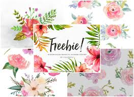 Download your free svg cut file and create your personal diy project with these beautiful quotes or designs. A Collection Of 240 Free Watercolor Floral Elements