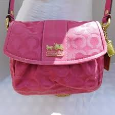 Coach Bags - COACH SMALL PINK CROSSBODY BAG