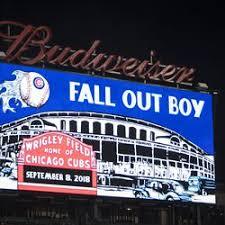 Wrigley Field Seating Chart Fall Out Boy Fall Out Boy Rocks Wrigley Field In Headlining Debut