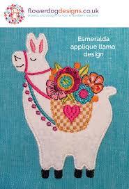 Machine Applique Designs Llama Digital Machine Embroidery Design Flowerdog Designs