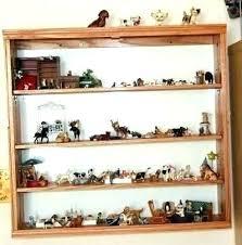 small display shelf figurine collectible ceramics a curio case ceramic figurines shelves for wall mounted dis