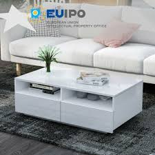 high gloss rectangle coffee table with