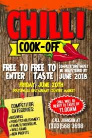 chili cook off poster. Exellent Chili Chili CookOff Contest Poster Template On Cook Off E