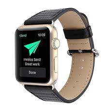 38mm 42mm apple watch leather band luxurious classy watchband carbon fiber replacement bracelet genuine