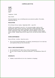 Resume Template No Work Experience Examples College Templates Cv For