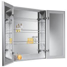 Double Mirrored Bathroom Cabinet Bathroom Recessed Medicine Cabinets Mirrors Medicine Cabinet With
