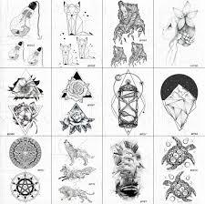 Vankirs маленькие черные для женщин татуировки на руку временные декорации для тела
