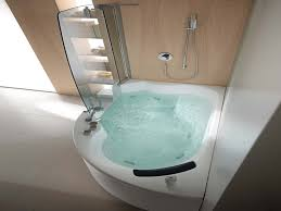 charming soaker tub shower combo with bathroom fixture and bathroom storage