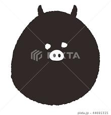 素材 黒豚 イラストのイラスト素材 44691315 Pixta