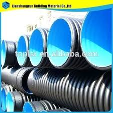 2 3 4 6 inch double wall corrugated drainage pipe drain with sock